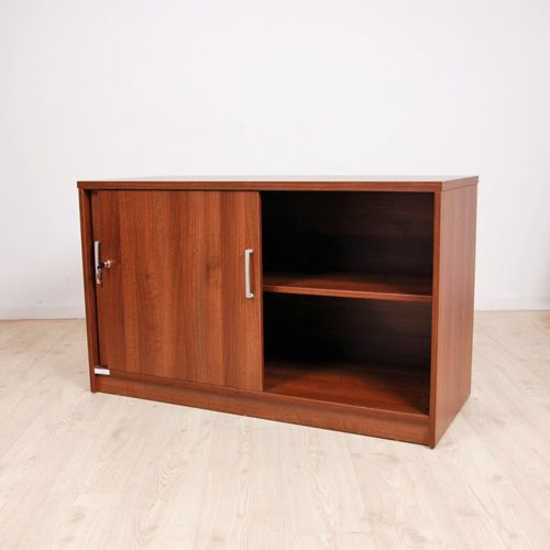 Le Meilleur Sliding Door Credenza In Cherry Mfc Executive Cupboard Ce Mois Ci
